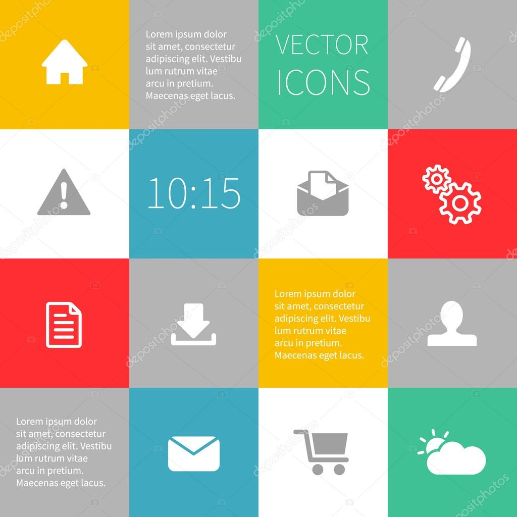 squares background infographics with vector icons