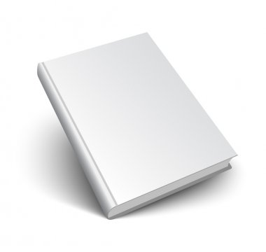 blank vector book on white