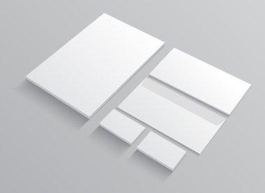 Set of corporate identity templates stationery.