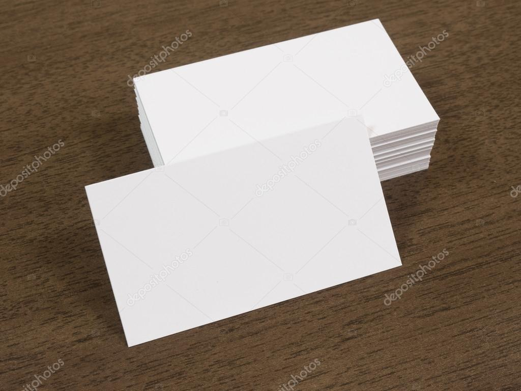 Pile of business cards on a wooden desk — Stock Photo © mileswork ...