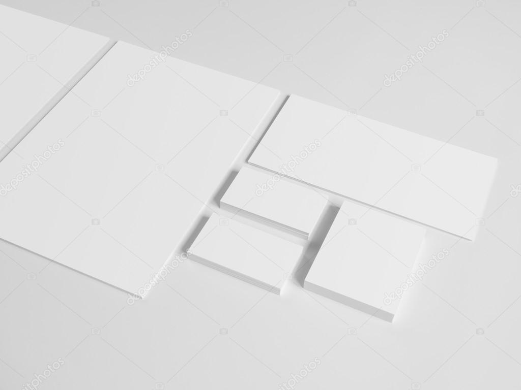Envelopes business card folder on gray. — Stock Photo © mileswork ...