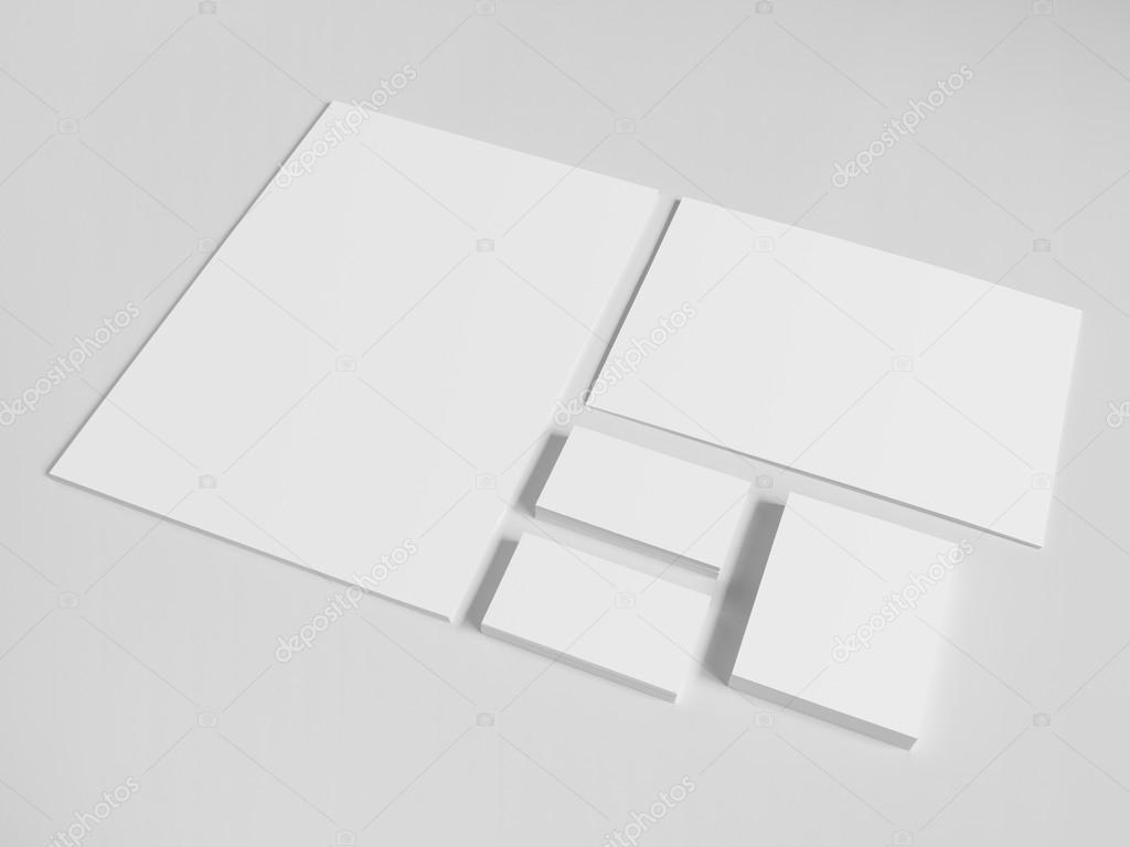 Blank business cards with a pile of papers and envelopes stock blank business cards with a pile of papers and envelopes stock photo reheart Gallery