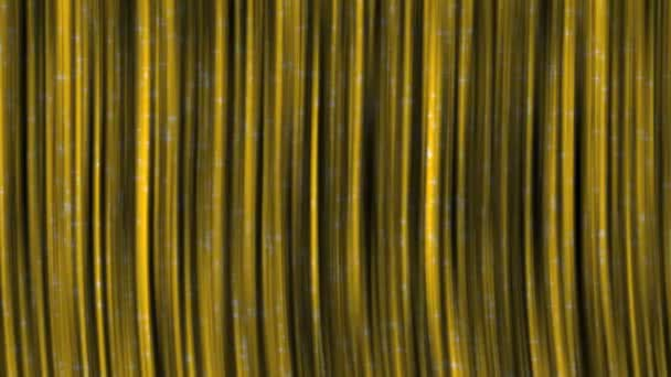 Yellow Curtains with Particles Background.