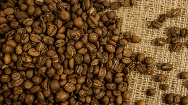 Rotating Coffee Beans Background.