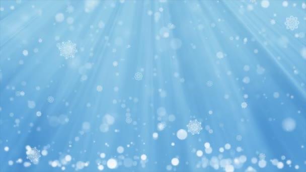 Modré pozadí vánoční a zimní sníh podzim s bezešvými smyčky