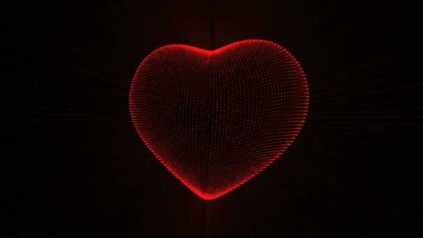 Red Heart with Heartbeat Cardiogram.