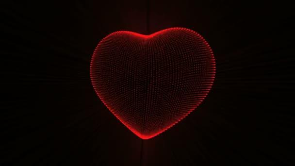 Červené srdce s tep kardiogram.