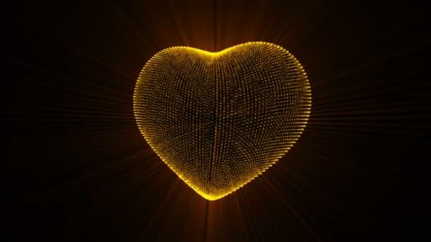 zlaté srdce pozadí.
