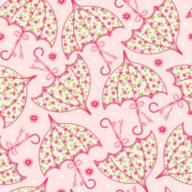 Seamless pattern with umbrellas
