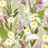Seamless pattern with flowers. Can be used on packaging paper, fabric, template for different images, etc.