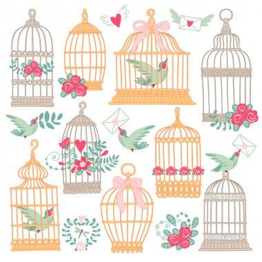 Vintage bird cages.