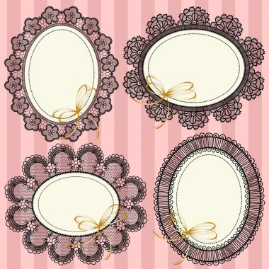 Vintage frames with flowers