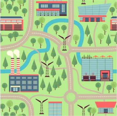 Illustration city map.