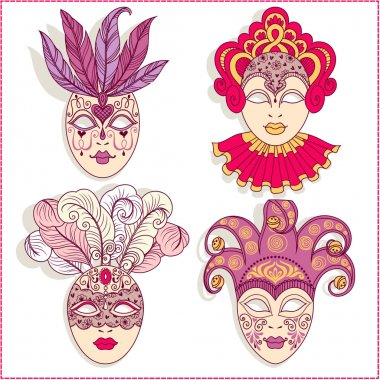 Illustration of a carnival masks.