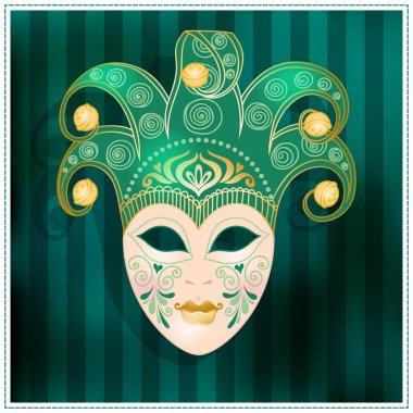 Illustration of a carnival mask.