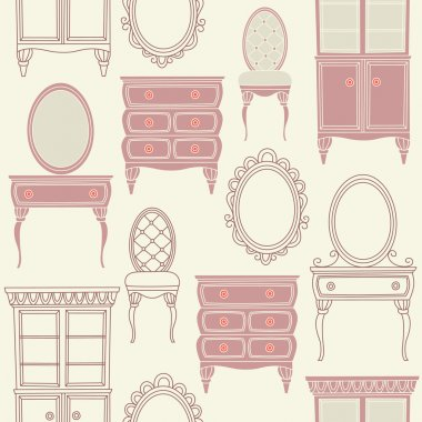 Set with antique furniture.