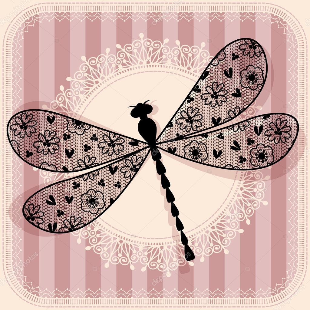 Ilustración de libélula — Vector de stock © xenia_ok #62722633