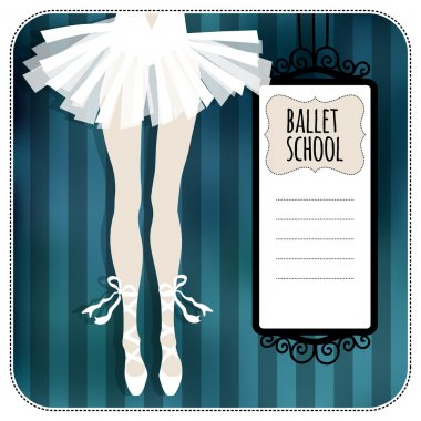 Greeting card with ballerina