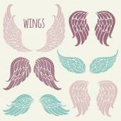 Photo Set of angel wings.