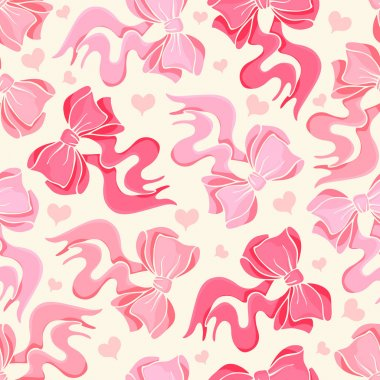 Seamless pattern with bows