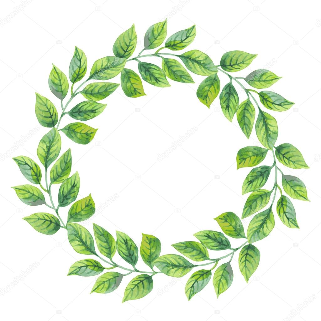 watercolor wreath template stock vector xenia ok 74139961