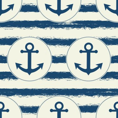 Seamless pattern with sea elements.