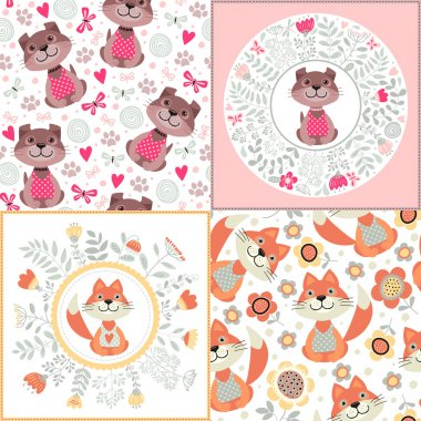 Seamless patterns with animals