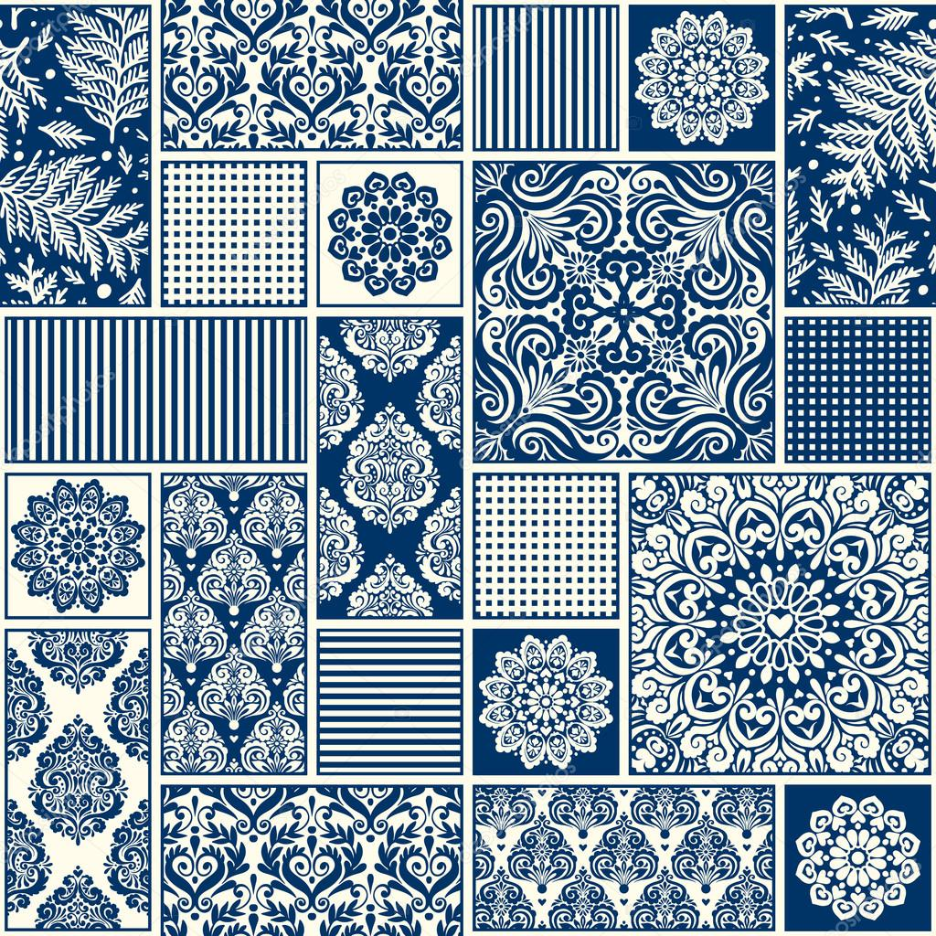 Decorazioni piastrelle : Geometrici decorativi piastrelle u2014 vettoriale stock #91739804