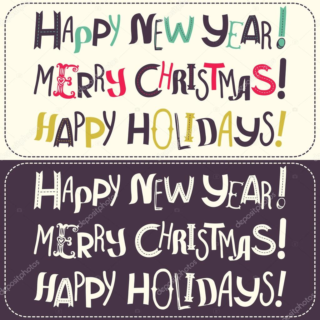 Plantillas Con Letras Feliz Navidad Archivo Imagenes Vectoriales