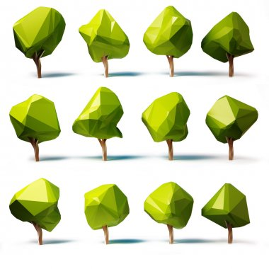 Abstract trees low poly