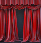 Photo red curtain on stage