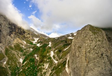 Aerial Photo. Fischt-Oshtensky pass. Caucasus.