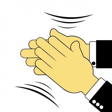 Sign of applauding hands