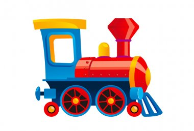 Vector cartoon toy train.