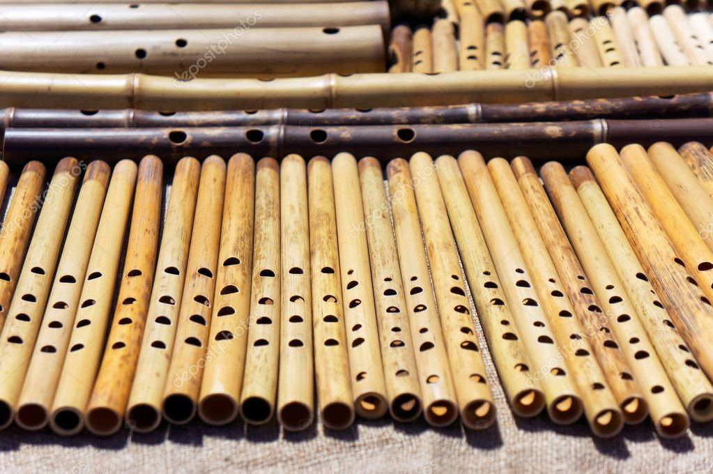 Wooden Flutes Sale Stock Photo Dja65 119233756
