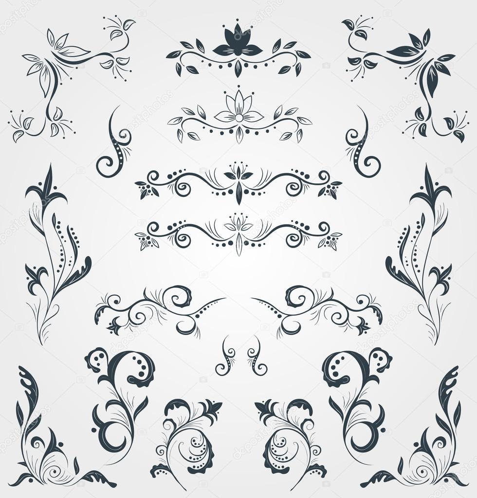 Modele Pour La Calligraphie Typographie Des Cartes Postales Ou De Visite Dans Un Style Classique Illustration Stock