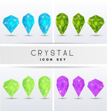 Icons in the form of crystals