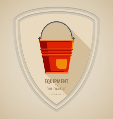 Yellow red Fire bucket