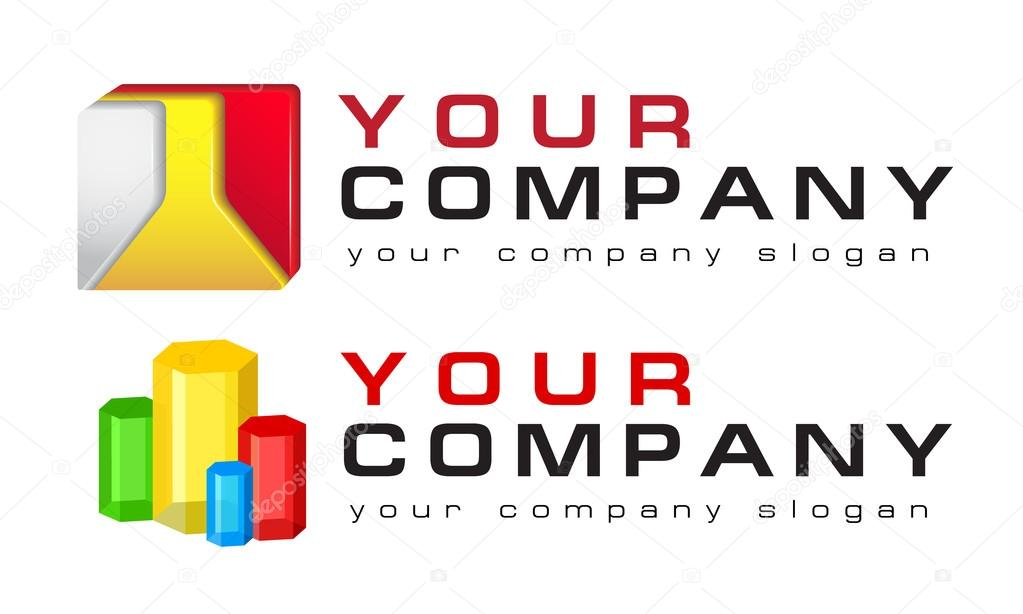 Conjunto de plantillas de logotipo, vector, Resumen, ciencia ...