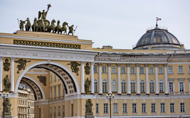 View of gate to Palace Square