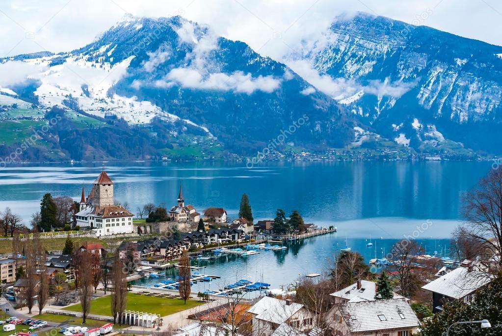 Lake view at Spiez, Switzerland