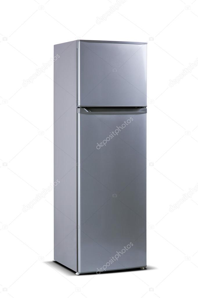 Grau metallisch Kühlschrank. Top Gefrierschrank. Kleine Kühl ...