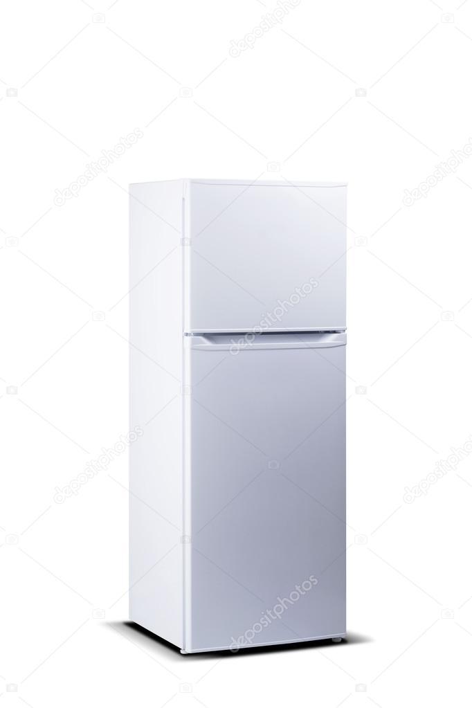 Weißen Kühlschrank. Top Gefrierschrank. Kleine Kühl ...