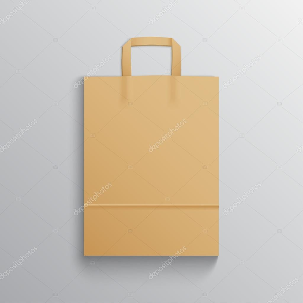 Blank brown paper bag mock up for branding