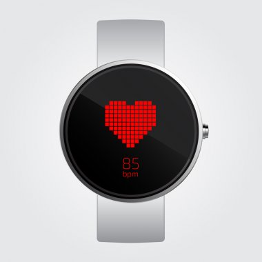 Heart Rate monitor Counter on smart watch