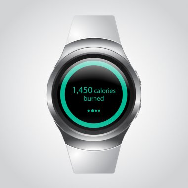 Smart watch with calories counter. Fitness Tracker Mockup