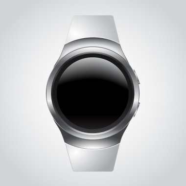 Modern Smart Watch Mockup with white strap