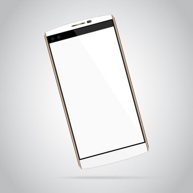 White Smartphone Mock-up with blank screen