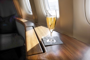 A chilled glass of vintage champagne