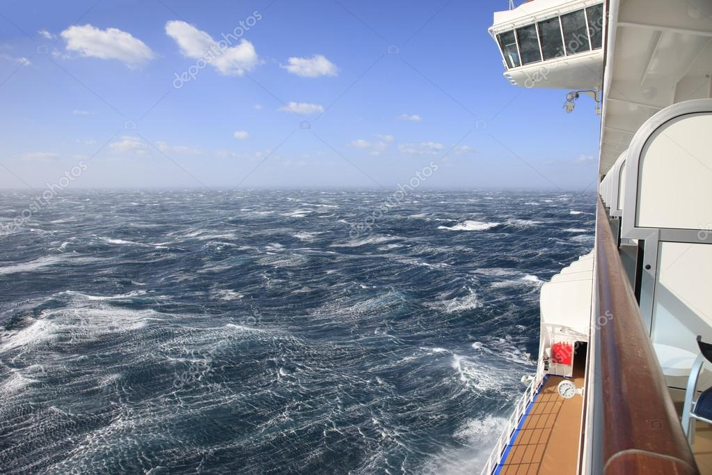 Rough Seas from a Cruise Ship Balcony